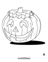 Illuminated Pumpkin Coloring Page