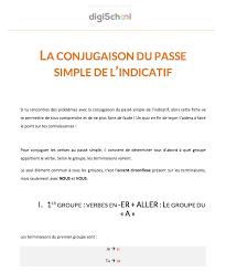 si er conjugaison la conjugaison du passé simple de l indicatif cours de français