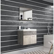 möbel set für das badezimmer in der holzfarbe minio möbel