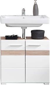 trendteam smart living badezimmer waschbeckenunterschrank unterschrank set one 60 x 56 x 34 cm in korpus eiche san remo hell nb