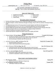 Resume Automotive Technician Mechanic Examples Services Repair