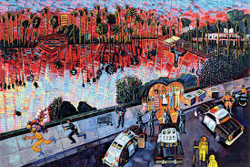 Chicano Park Murals Meanings by Chicano Art Pioneer Frank Romero Is Still Painting Still Loves