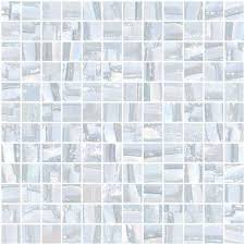 inch pearl white textured recycled glass tile