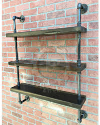 Steampunk Shelf Industrial Shelves Wall Pipe