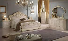 klassisches schlafzimmer komplett beige hochglanz set 6tl