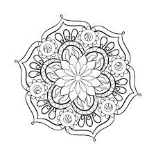 Mandala Adult Coloring Page Thumbnail Christmas Pages For Adults To Print Pictures Flowers Difficult
