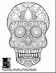 Outstanding Day Of The Dead Sugar Skull Coloring Pages Adults With Page And