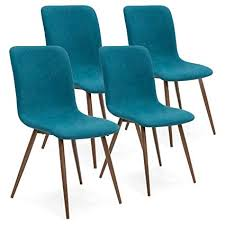 Best Choice Products Set Of 4 Mid Century Modern Dining Room Chairs W Fabric