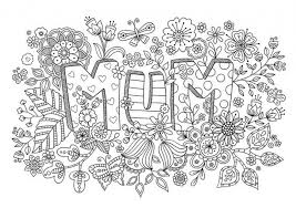 Mothers Day Printable Coloring Pages For Adults 75011