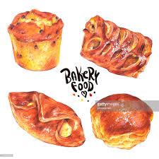 Hand Drawn Baking Set Isolated On A White Background Stock Illustration