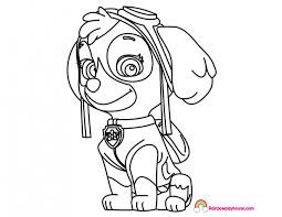 Paw Patrol Skye Coloring Page Rainbow Playhouse Pages For