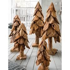 skulptur deko baum tannenbaum holz teak wurzelholz dekoration 120cm natur unikat