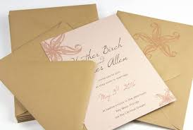 Beach Themed Wedding Invitation Made With Curious Metallics Nude Card Stock And Euro Flap Kraft