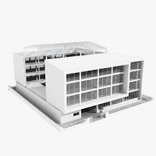 Low Rise Office Building With Courtyard 3D Model Download Max 3ds