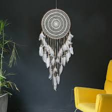 dreamcatcher traumfänger indianer ø 40cm groß schlafzimmer wohnzimmer deko neu