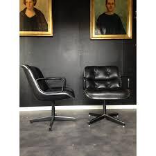 fauteuil de bureau vintage en cuir charles pollock 1960