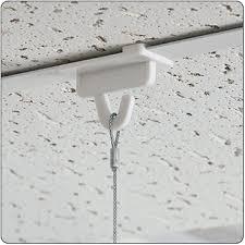 clear hook for acoustical tile grid sign hanging
