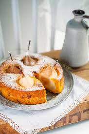 backrezept für möhrenkuchen mit versunkenen birnen zucker