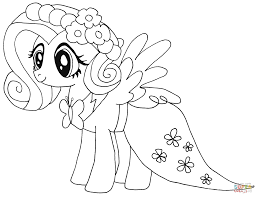 Fluttershy Coloring Page My Little Pony Free Printable Book