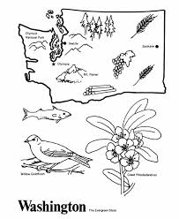 USA Printables State Of Washington Coloring Pages