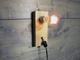Reclaimed Wood Pallet Wall Sconce or Table Lamp Upcycled Wood
