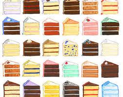 Original Art Cake Slices Gouache painting