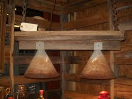 InteriorRustic Cabin Lighting Fixtures With Cone Shape Cover Lamp And Floating Wooden Wall Ideas