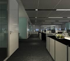 Modern Office Hallway 3D Model