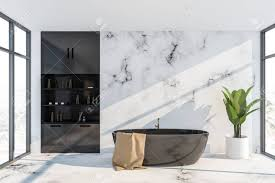 100 Marble Walls Interior Of Luxury Bathroom With White Marble Walls Comfortable