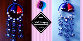 How To Make Wall Hangings At Home With Waste Material Handmade Hanging Ideas