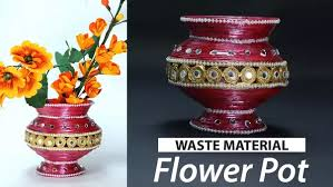 Make A Beautiful Flower Vase At Home Using Old Newspaper This Brilliant Best Out Of Waste Tutorial Will Show You How To Homemade With
