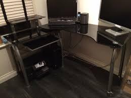 black glass corner desk all home ideas and decor glass corner