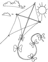 Kite Coloring Pages In The Sky