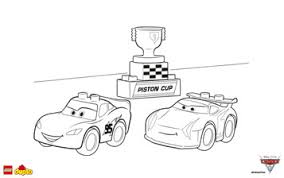 LEGOR DUPLOR Cars 3 Lightning McQueen Coloring Page