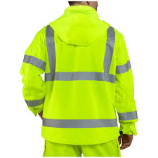 carhartt high visibility class 3 waterproof jacket brite lime