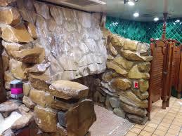 men s bathroom in wine cellar area urinal waterfall yelp