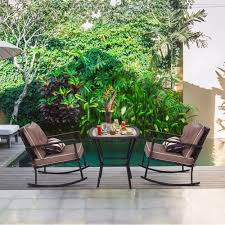 Giantex 3 PC Patio Rattan Wicker Furniture Set Rocking Chair Coffee Table  Cushions New Outdoor Furniture HW57335GR The Gripper 2piece Delightfill Rocking Chair Cushion Set Patio Festival Metal Outdoor With Beige Cushions 2pack Fniture Add Comfort And Style To Your Favorite Nuna Wood W Of 2 By Christopher Knight Home Details About Klear Vu Easy Care Piece Maracay Head Java Wicker Enstver Bistro 2piece Seating With Thickened Blue And Brown Amish Bentwood Rocking Chair Augustinathetfordco Splendid Comfortable Chairs Nursing Wooden Luxury Review Phi Villa 3piece