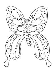 Butterfly Sweet Cartoon With Big Rounded Eyes Coloring Page