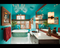 turquoise glass tile bathroom eclectic with asian blue brown