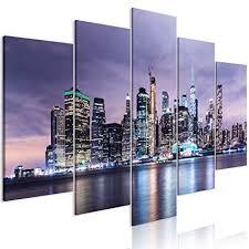 wandbilder wohnzimmer leinwand bilder new york skyline
