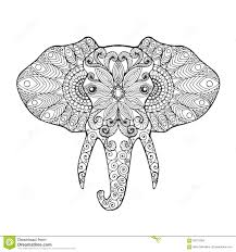 Abstract Elephant Coloring Pages For Adults Item 6853