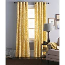Yellow Blackout Curtains Target by Paisley Curtain Panel Threshold Target