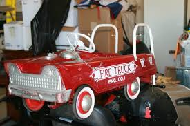 MURRAY FIRE ENGINE PEDAL CAR | Collectors Weekly Goki Vintage Fire Engine Ride On Pedal Truck Rrp 224 In Classic Metal Car Toy By Great Gizmos Sale Old Vintage 1955 Original Murray Jet Flow Fire Dept Truck Pedal Car Restoration C N Reproductions Inc Not Just For Kids Cars Could Fetch Thousands At Barrett Model T 1914 Firetruck Icm 24004 A Late 20th Century Buddy L Childs Hook And Ladder No9 Collectors Weekly Instep Red Walmartcom Stuff Buffyscarscom Page 2