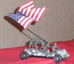 AHG Pinewood Derby Iwo Jima Car Due To The Height Flag Is Just For Display And Not Place During Race