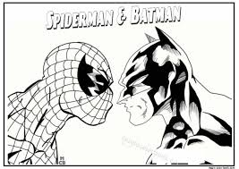 Spiderman Batman Coloring Pages And PagesSuperhero PagesKids