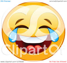 Clipart Of A Yellow Smiley Face Emoticon Laughing So Hard Hes Crying Kef9q9