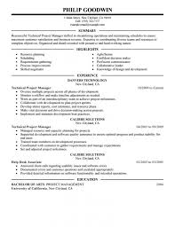 Project Management Resume Format Nhtheatre Org Sampl Resumes Examples