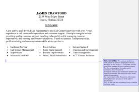 Resume Summary Statement Sample