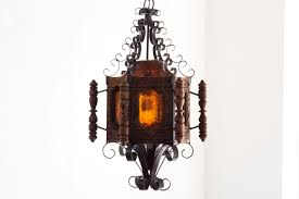 Possum Belly Bakers Cabinet by Sold 1960s Spanish Revival Pendent Light Wrought Iron And Wood