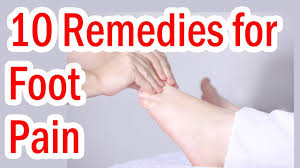 Top 10 Home Reme s for Foot Pain